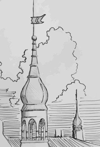 Prague Spires, Tyn Church on horizon